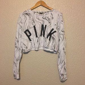 VS PINK pullover campus cropped sweatshirt